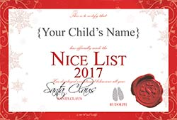 Letter from santa the parcel workshop every child wants to be on santas nice list and your child will be so excited when santa reveals they have made it to the top of the list spiritdancerdesigns Gallery